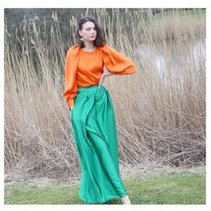 Zara blouse with voluminous sleeves puff sleeves